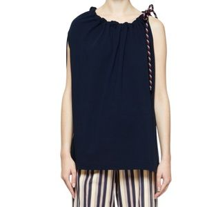 Dries Van Noten Toggle-Rope Cinched Neck Tunic